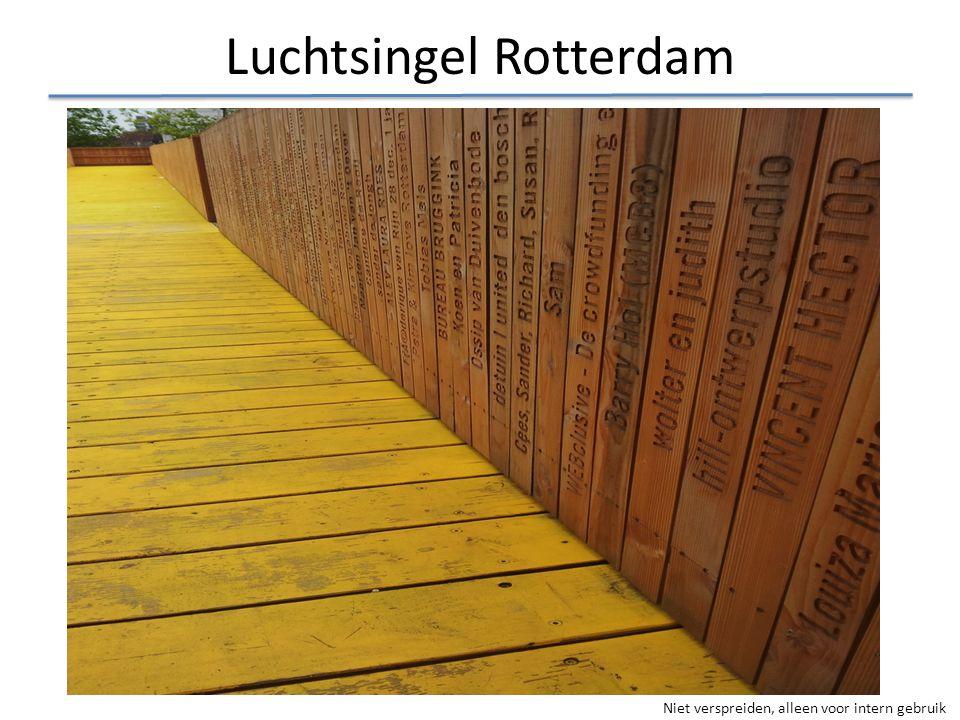 Niet verspreiden, alleen voor intern gebruik Luchtsingel Rotterdam