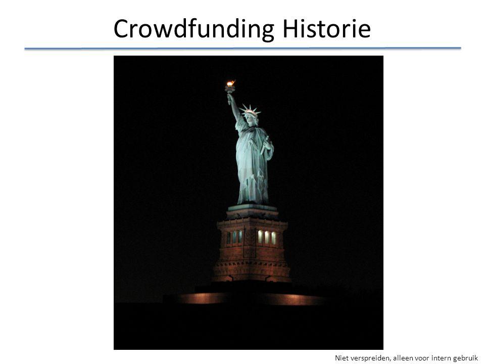 Niet verspreiden, alleen voor intern gebruik Crowdfunding Historie