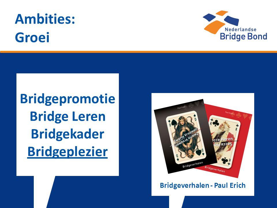 Ambities: Groei Bridgepromotie Bridge Leren Bridgekader Bridgeplezier Bridgeverhalen - Paul Erich