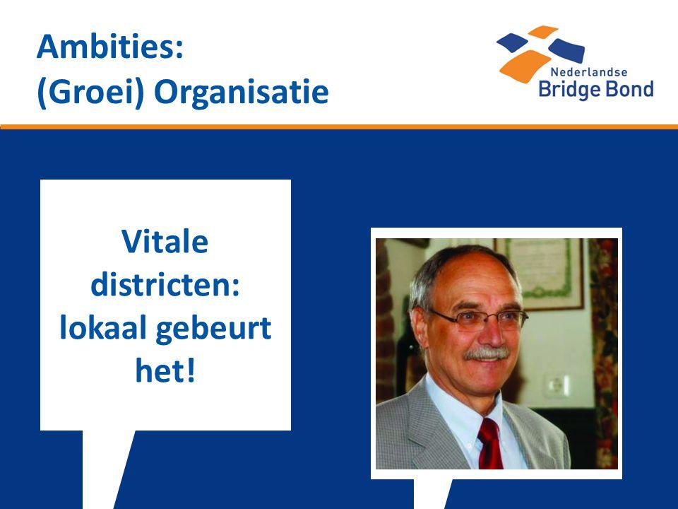 Ambities: (Groei) Organisatie Vitale districten: lokaal gebeurt het!