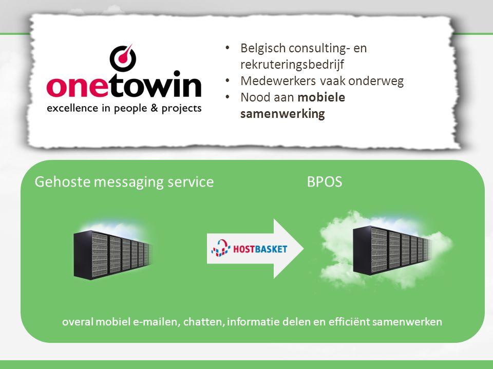 Gehoste messaging service BPOS overal mobiel e-mailen, chatten, informatie delen en efficiënt samenwerken • Belgisch consulting- en rekruteringsbedrij