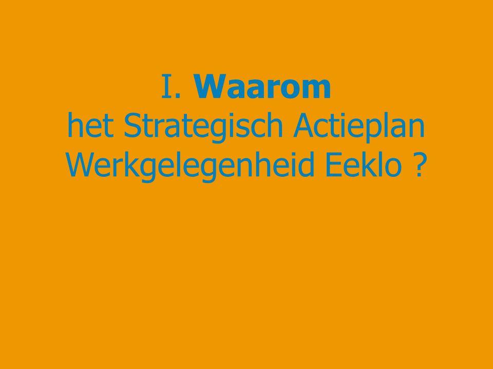 I. Waarom het Strategisch Actieplan Werkgelegenheid Eeklo