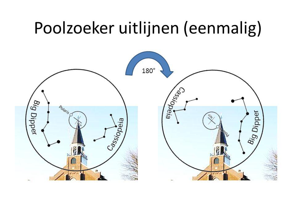 Poolzoeker uitlijnen (eenmalig) 180°