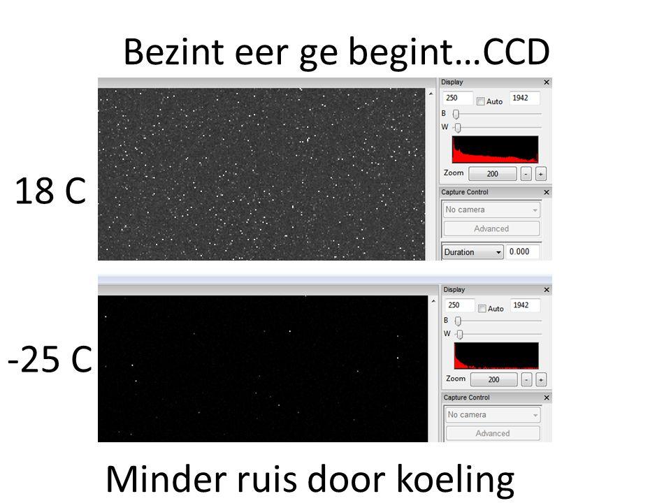 Bezint eer ge begint…CCD Minder ruis door koeling 18 C -25 C