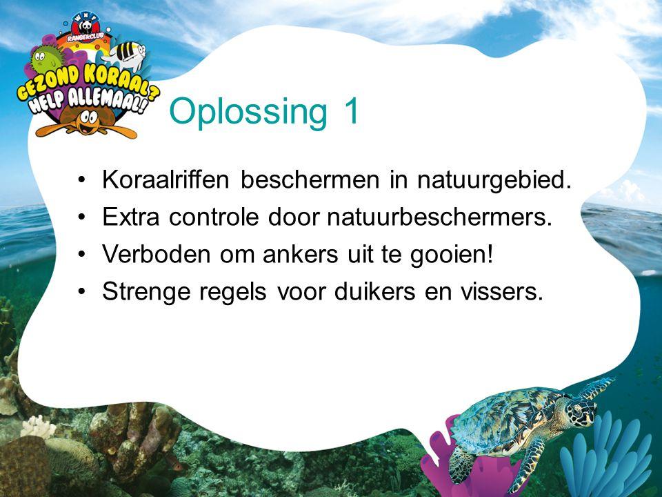 •Koraalriffen beschermen in natuurgebied. •Extra controle door natuurbeschermers. •Verboden om ankers uit te gooien! •Strenge regels voor duikers en v