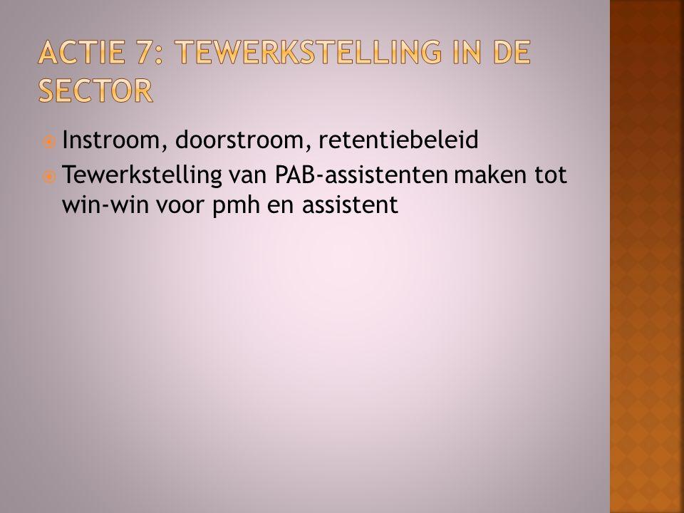  Instroom, doorstroom, retentiebeleid  Tewerkstelling van PAB-assistenten maken tot win-win voor pmh en assistent