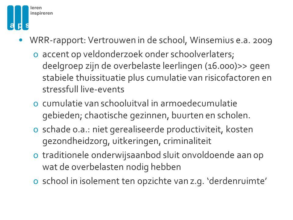 •WRR-rapport: Vertrouwen in de school, Winsemius e.a.