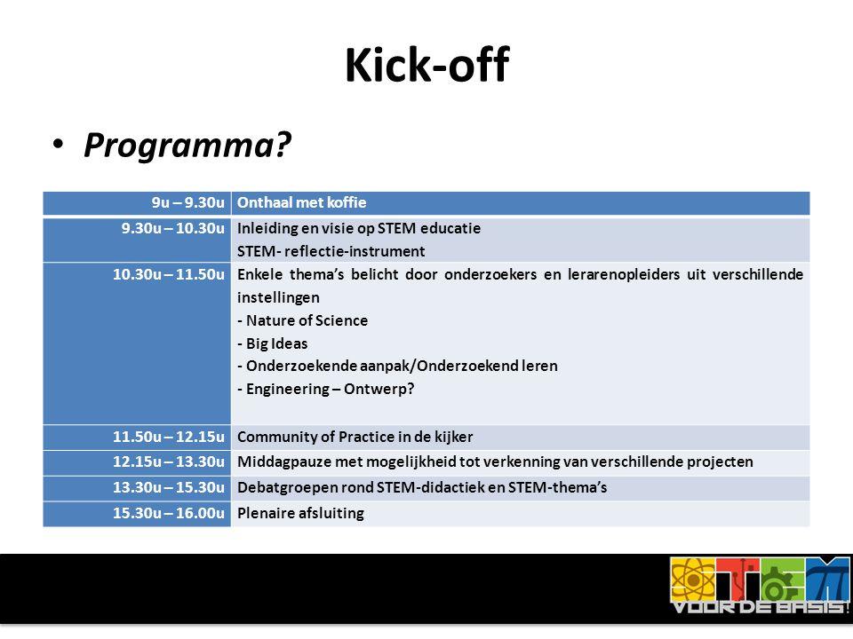 Kick-off • Programma.