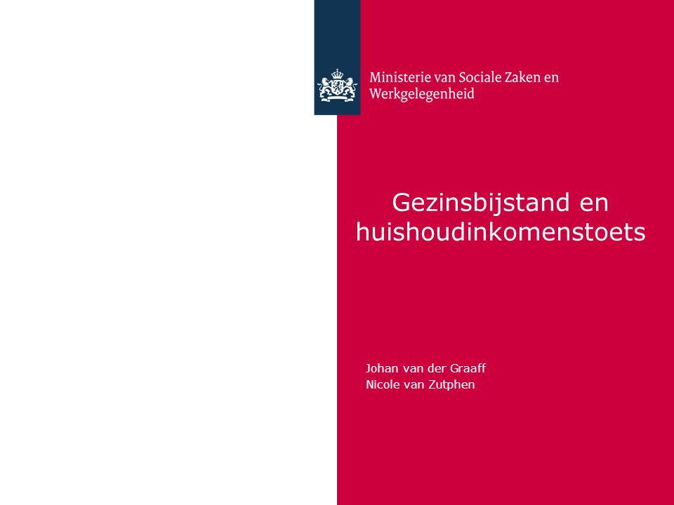Gezinsbijstand en huishoudinkomenstoets Johan van der Graaff Nicole van Zutphen