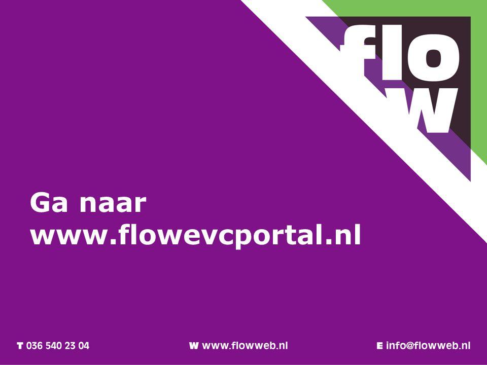 Ga naar www.flowevcportal.nl