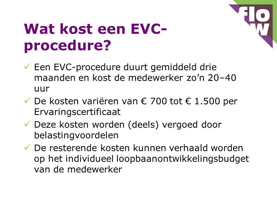 Wat kost een EVC- procedure.