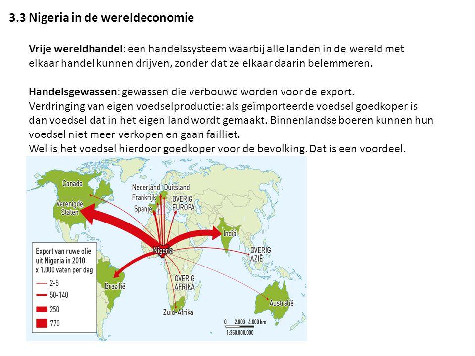 3.3 Nigeria in de wereldeconomie Vrije wereldhandel: een handelssysteem waarbij alle landen in de wereld met elkaar handel kunnen drijven, zonder dat