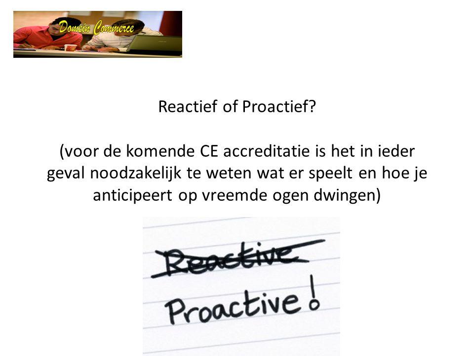 Reactief of Proactief.