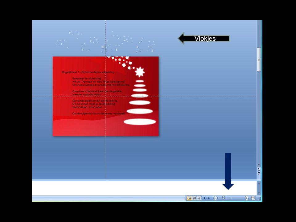 Mogelijkheid 2 – Sneeuw in één afbeelding Bekijk eerst het voorbeeld.
