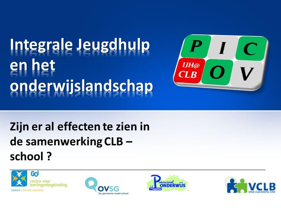 PI COV • PICOV staat voor Project Integrale Jeugdhulp (IJH) – CLB Ondersteuning Vlaanderen-breed.