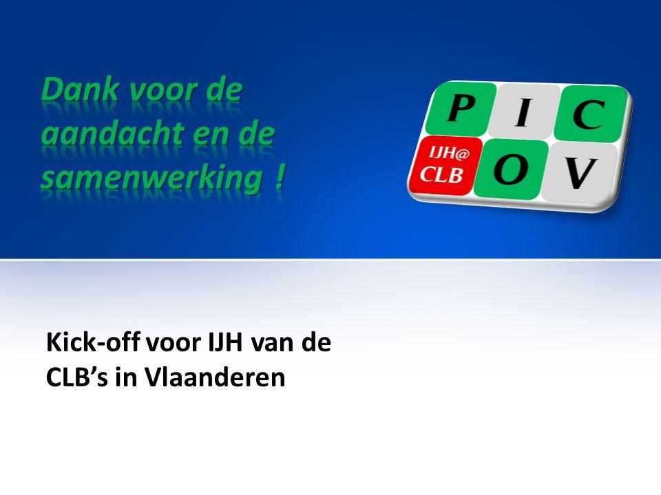 Kick-off voor IJH van de CLB's in Vlaanderen
