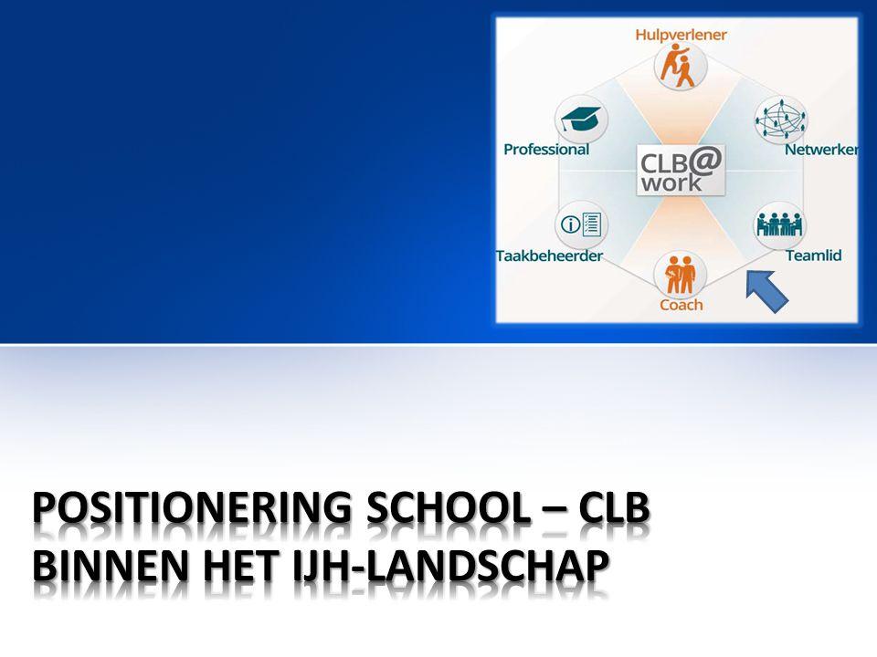 • T.o.v.de IJH-actoren kunnen CLB's via hun scholen alle kinderen en jongeren bereiken.