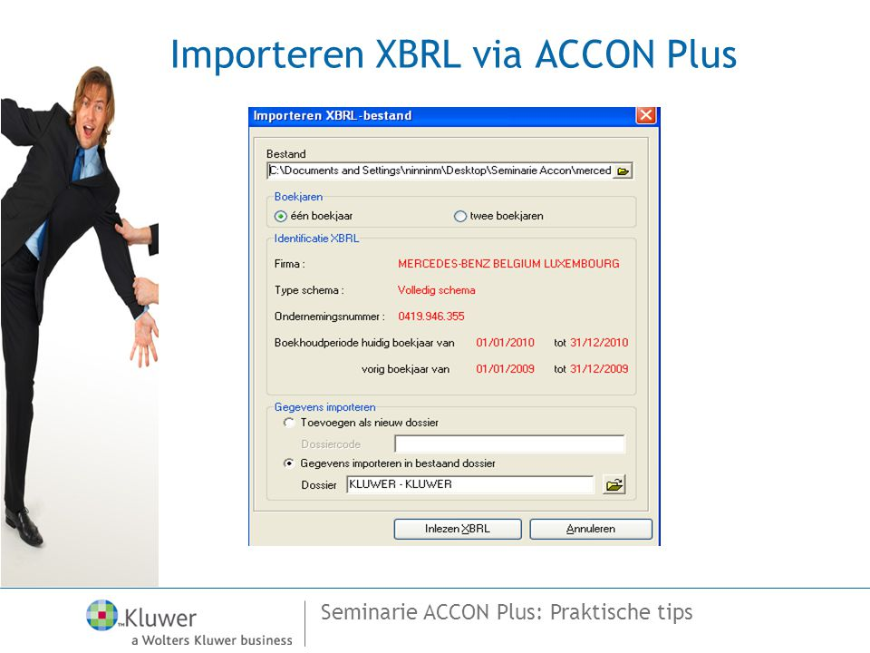 Seminarie ACCON Plus: Praktische tips Importeren XBRL via ACCON Plus