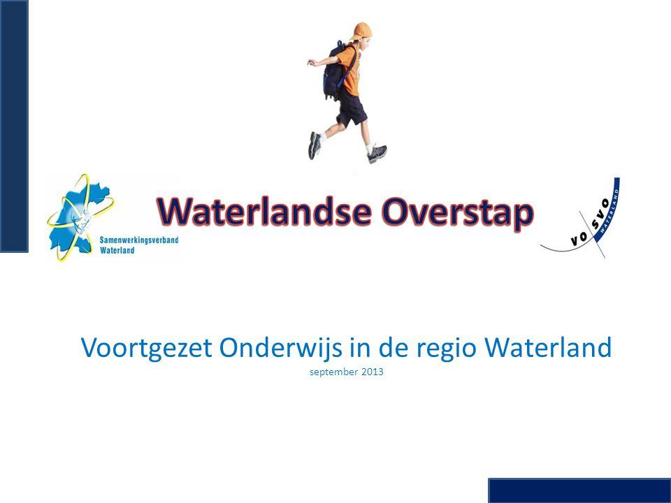 Voortgezet Onderwijs in de regio Waterland september 2013