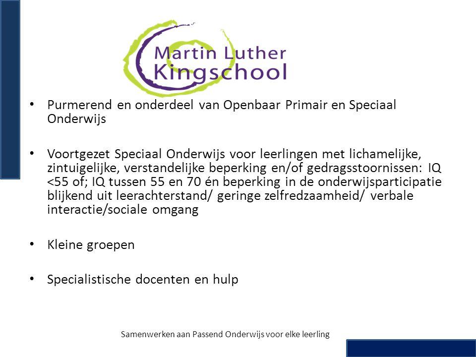 • Purmerend en onderdeel van Openbaar Primair en Speciaal Onderwijs • Voortgezet Speciaal Onderwijs voor leerlingen met lichamelijke, zintuigelijke, v