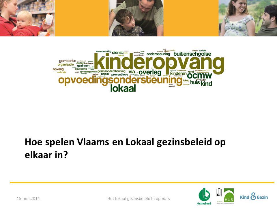 Hoe spelen Vlaams en Lokaal gezinsbeleid op elkaar in 15 mei 2014Het lokaal gezinsbeleid in opmars