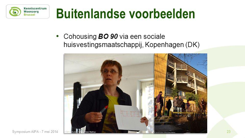 Buitenlandse voorbeelden • Cohousing BO 90 via een sociale huisvestingsmaatschappij, Kopenhagen (DK) 23Symposium AIPA - 7 mei 2014