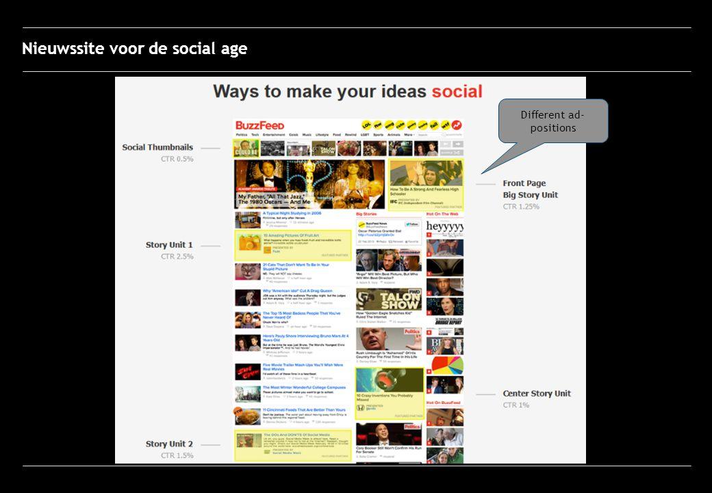 Different ad- positions Nieuwssite voor de social age