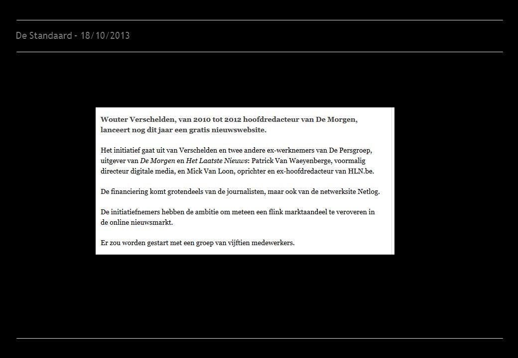De Standaard – 18/10/2013