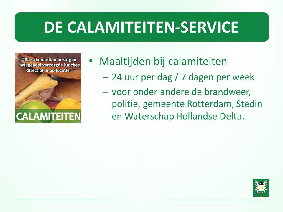 DE CALAMITEITEN-SERVICE • Maaltijden bij calamiteiten – 24 uur per dag / 7 dagen per week – voor onder andere de brandweer, politie, gemeente Rotterda
