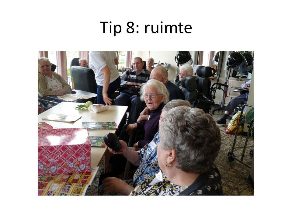 Tip 8: ruimte
