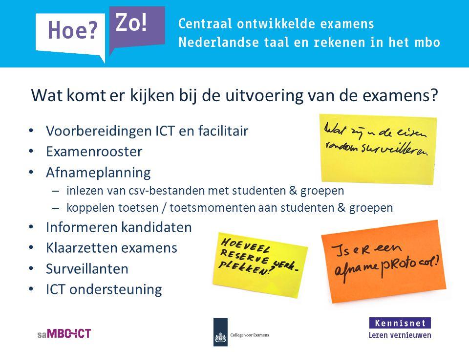 Wat komt er kijken bij de uitvoering van de examens.