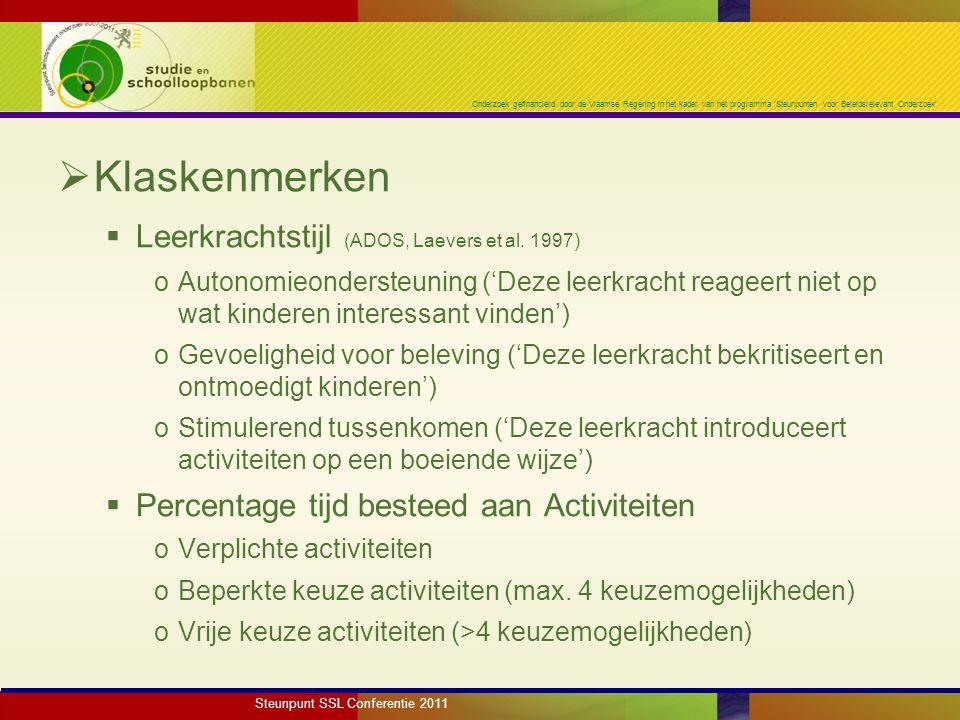 Onderzoek gefinancierd door de Vlaamse Regering in het kader van het programma 'Steunpunten voor Beleidsrelevant Onderzoek'  Op interesse gebaseerde projecten = open projecten oTraditionele thema's (e.g.