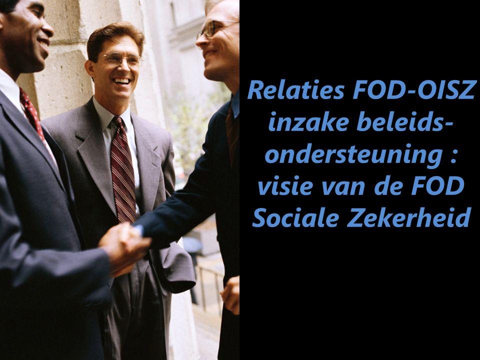 Relaties FOD-OISZ inzake beleids- ondersteuning : visie van de FOD Sociale Zekerheid