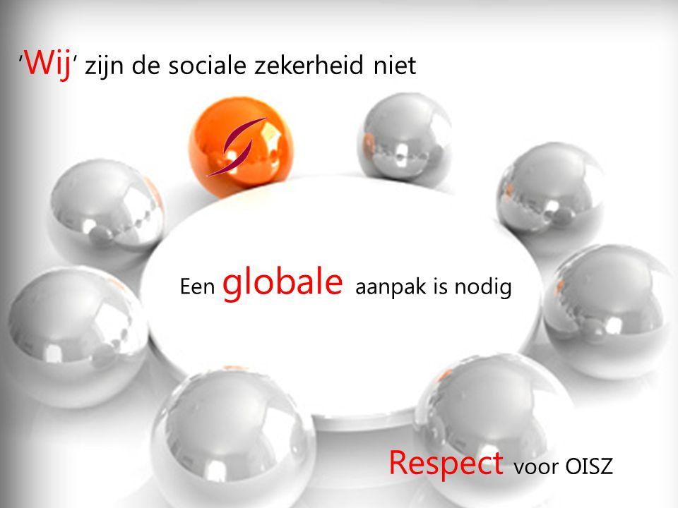 Respect voor OISZ ' Wij ' zijn de sociale zekerheid niet Een globale aanpak is nodig