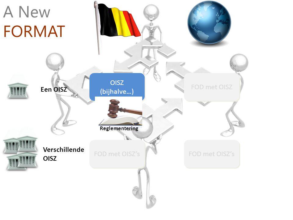 Verschillende OISZ Een OISZ OISZ (bijhalve…) FOD met OISZ FOD met OISZ's A New FORMAT Reglementering