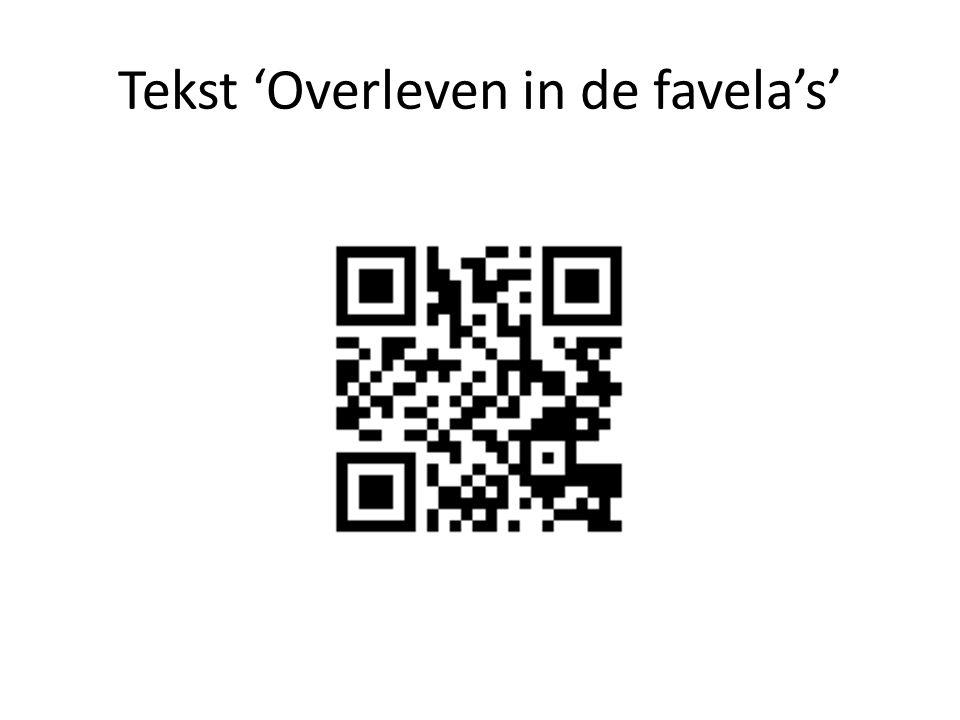 Tekst 'Overleven in de favela's'
