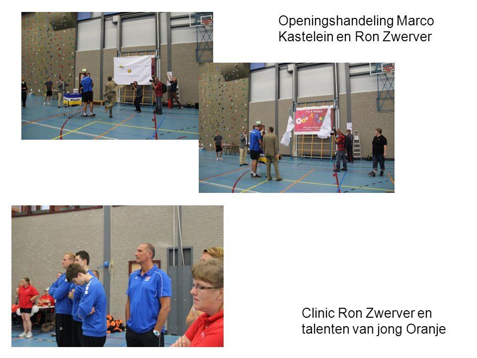 Openingshandeling Marco Kastelein en Ron Zwerver Clinic Ron Zwerver en talenten van jong Oranje