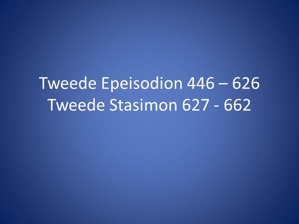 Tweede Epeisodion • Jason komt naar Medea en zegt geen medelijden met haar te hebben.