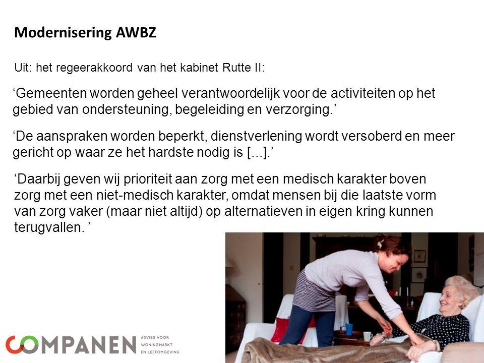 Uit: het regeerakkoord van het kabinet Rutte II: 'Gemeenten worden geheel verantwoordelijk voor de activiteiten op het gebied van ondersteuning, begel