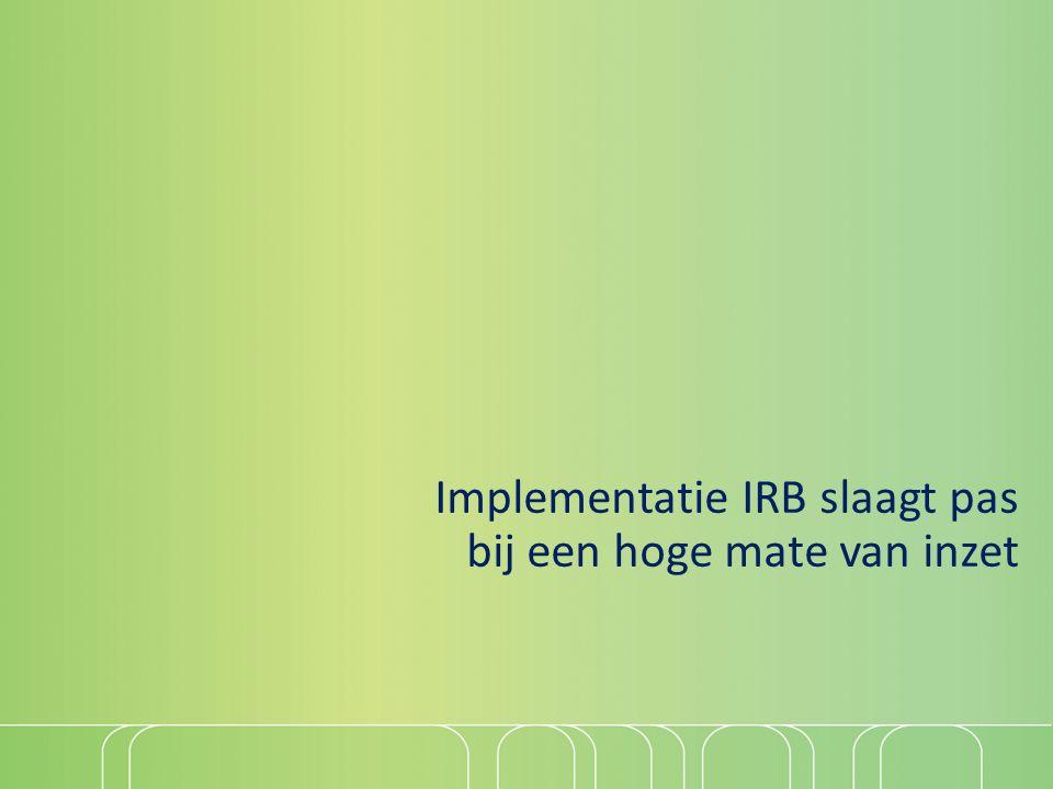 Implementatie IRB slaagt pas bij een hoge mate van inzet