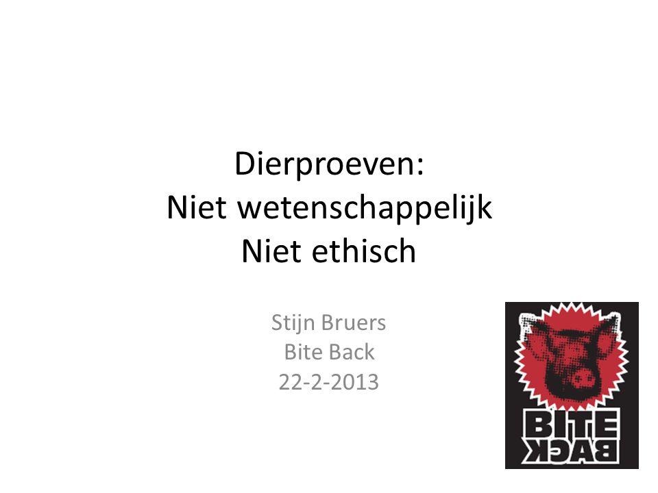 Dierproeven: Niet wetenschappelijk Niet ethisch Stijn Bruers Bite Back 22-2-2013
