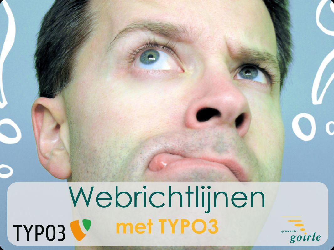 Webrichtlijnen met TYPO3