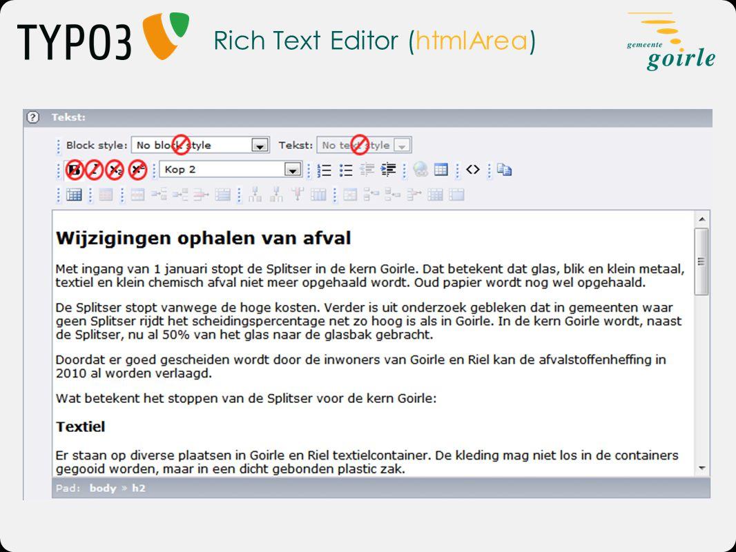Rich Text Editor (htmlArea)