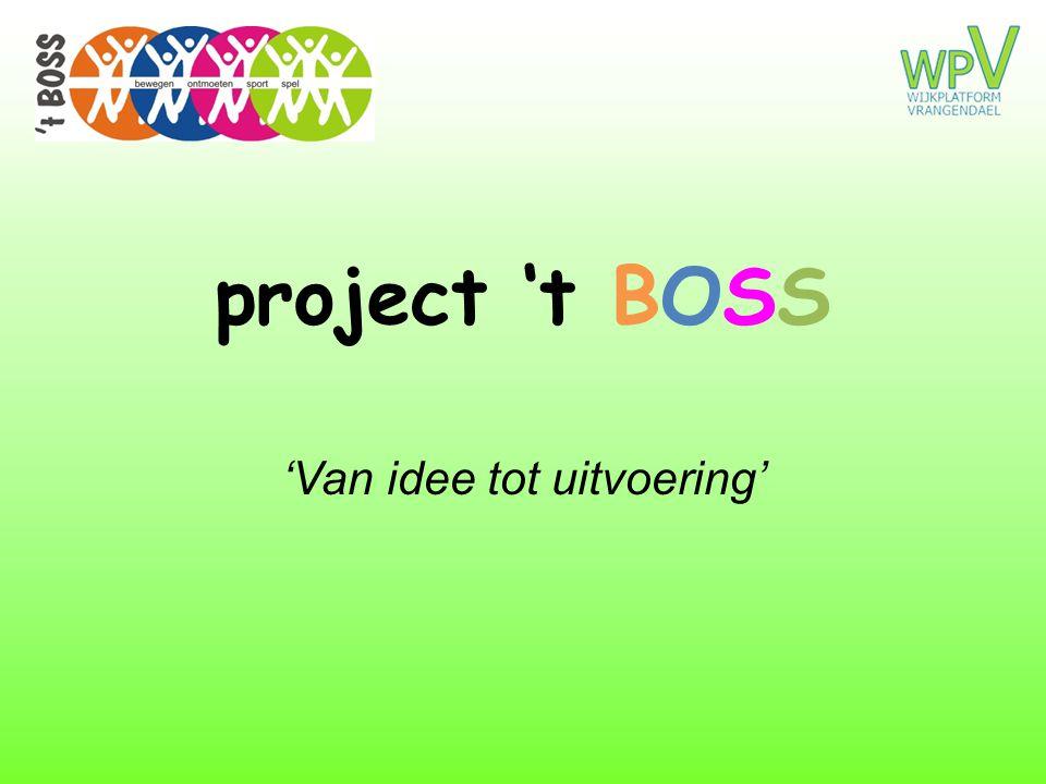 project 't BOSS 'Van idee tot uitvoering'