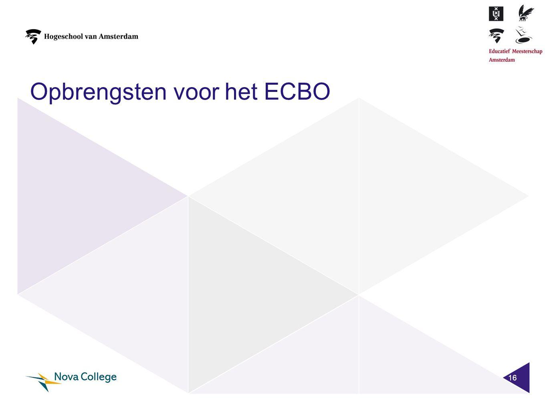 Opbrengsten voor het ECBO 16