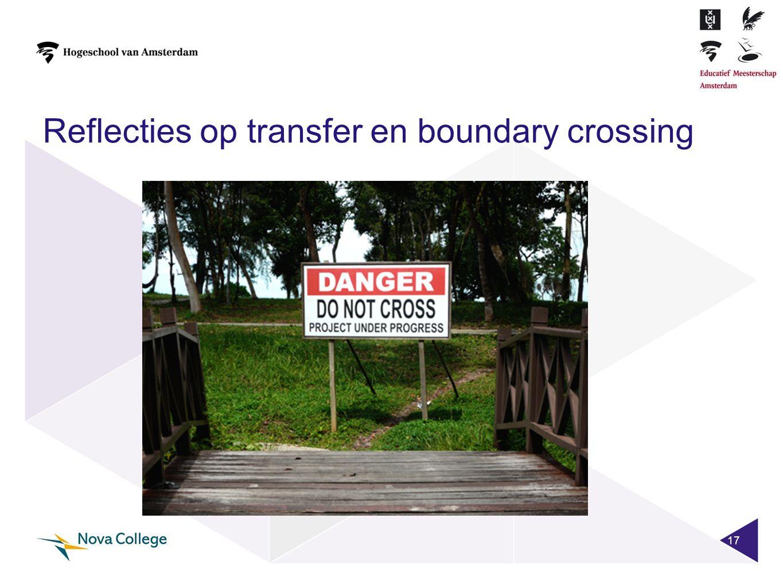 Reflecties op transfer en boundary crossing 17