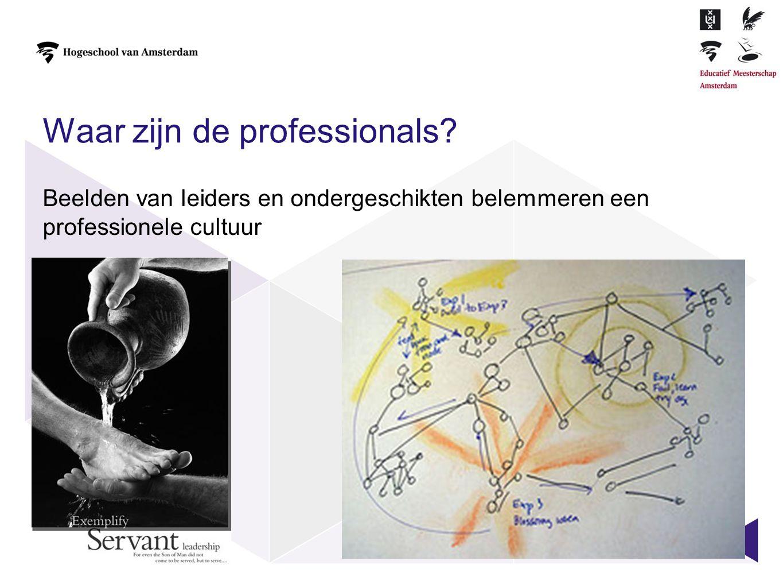 Waar zijn de professionals? Beelden van leiders en ondergeschikten belemmeren een professionele cultuur 4