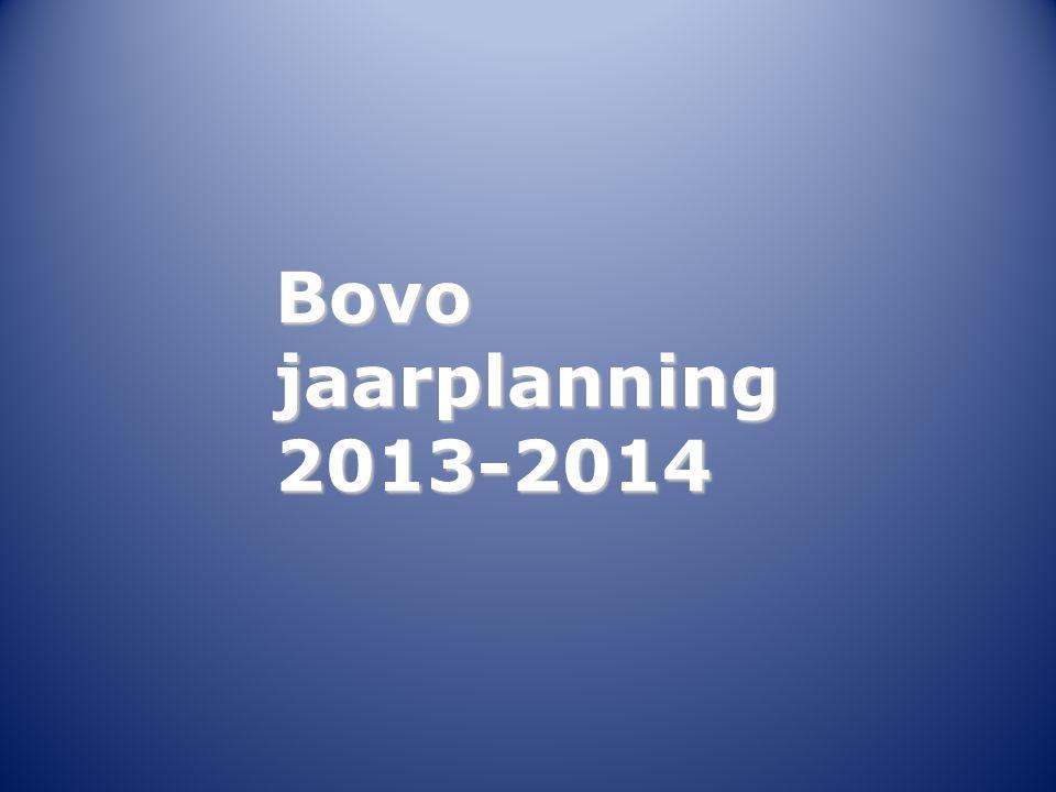 Bovo jaarplanning 2013-2014