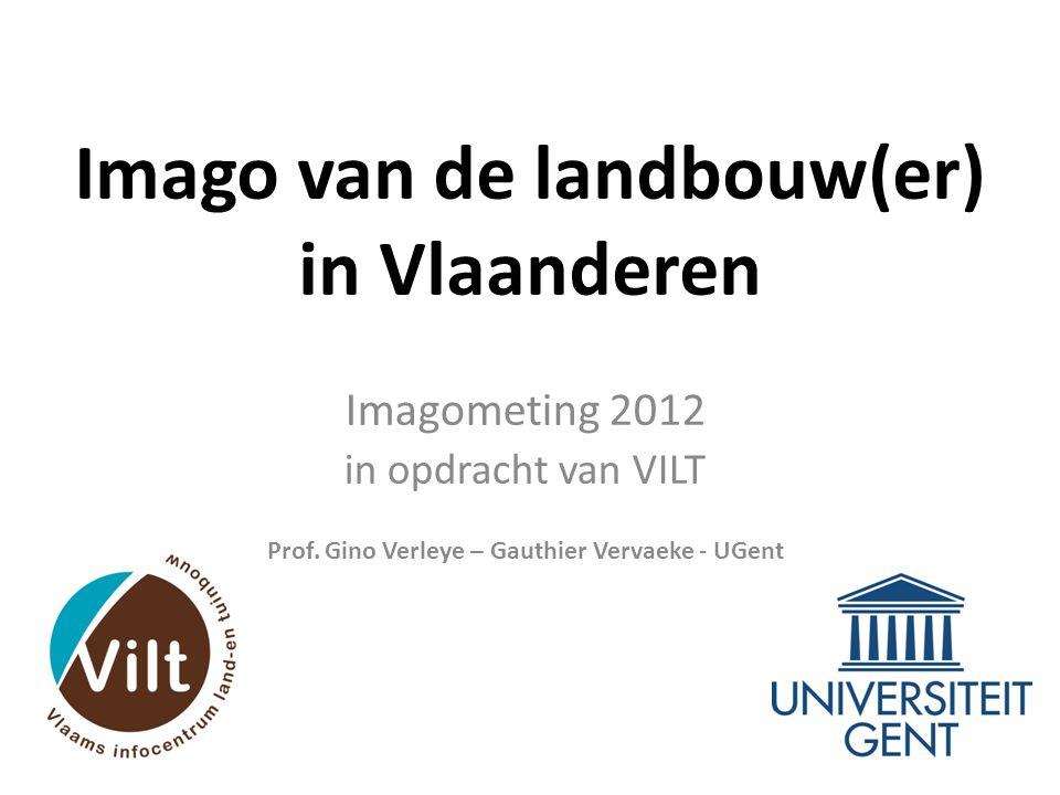 Doelstelling • Wat is het imago van de landbouw in Vlaanderen anno 2012.