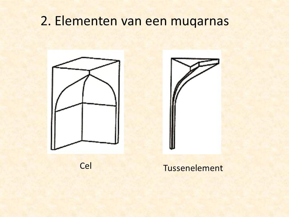 Cel Tussenelement 2. Elementen van een muqarnas